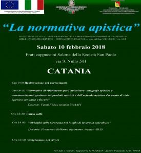Pagine da Locandina convegno normativa apistica Catania