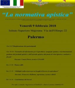 Pagine da Locandina convegno normativa apistica Palermo