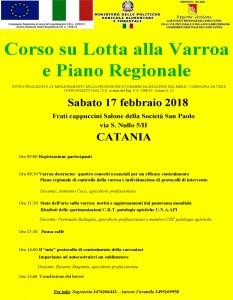 Pagine da Locandina corso di formazione su lotta alla varroa e piano regionale catania