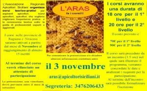 locandina aras fa i corsi ottobre2019