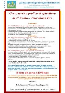 locandina corso apicoltura 2° livello Barcellona 2020