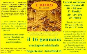 locandina aras fa i corsi gennaio 2021